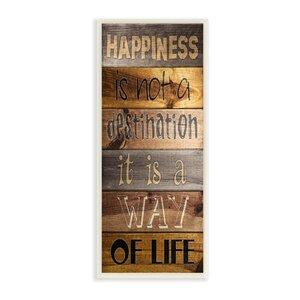 'Happiness Destination' Textual Art