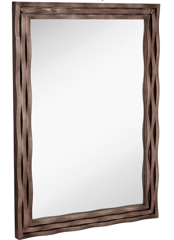 modern wood picture frames. Large Modern Rectangular Mirror With Smoked Chrome Wavy Frame Wood Picture Frames