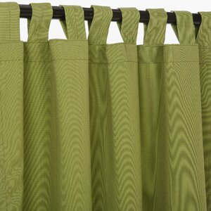 Solid Semi-Sheer Tap Top Single Curtain Panel