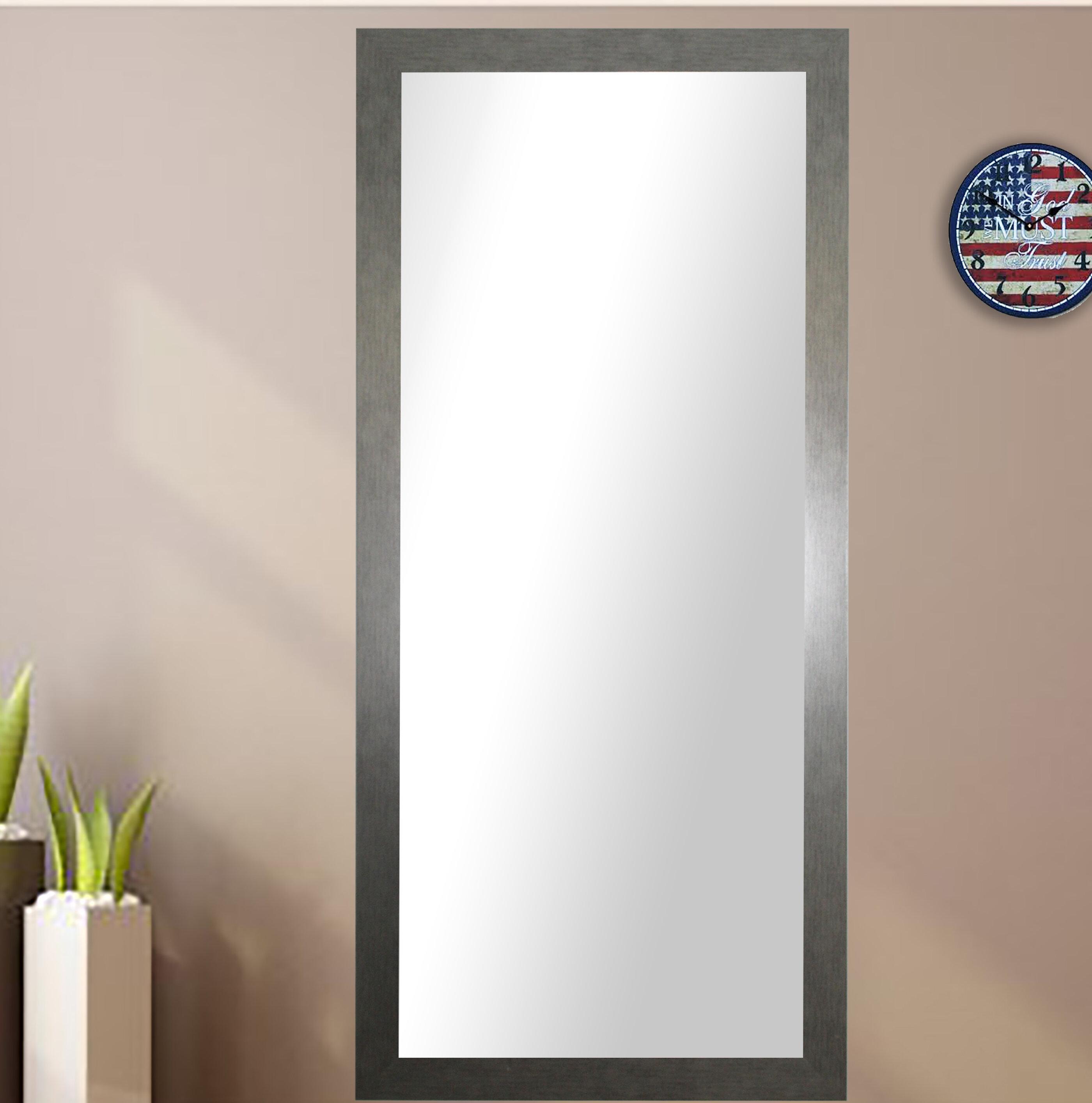 Wade Logan Rectangle Silver Framed Wall Mirror & Reviews | Wayfair