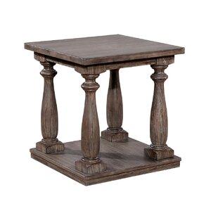 Wood End Table With Metal Legs Wayfair