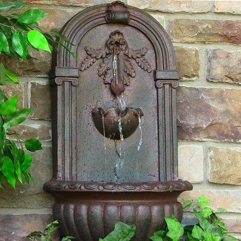 Ordinaire Polystone Solar Florence Garden Wall Fountain