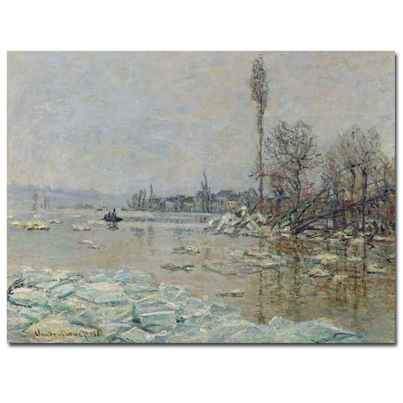"""The Breakup of Ice, 1880"" by Claude Monet Painting Print on Canvas"