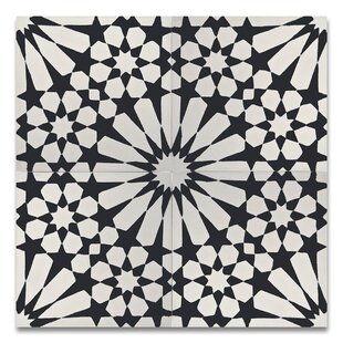 Agdal 8 X Handmade Cement Tile In Black White
