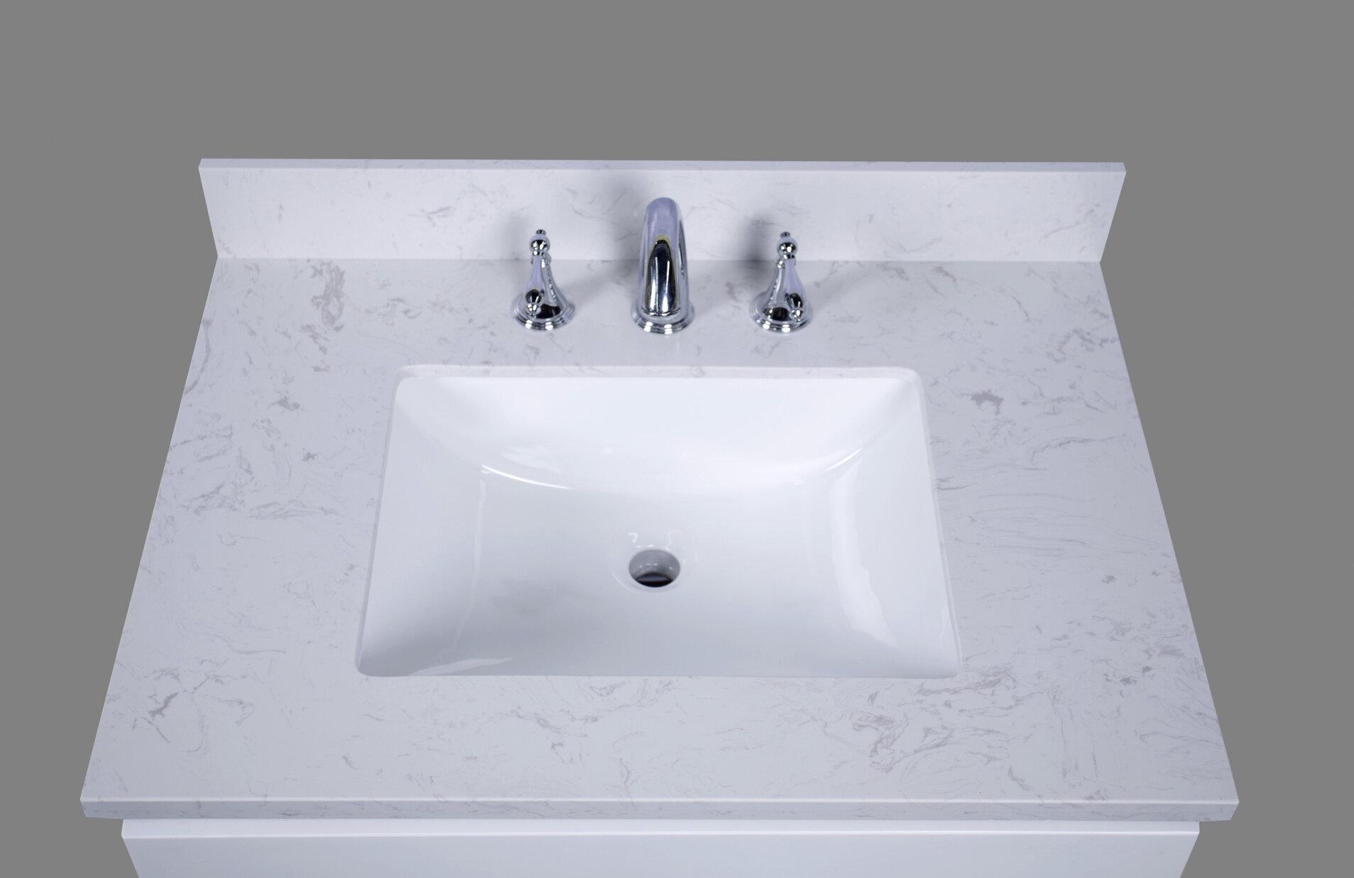 Pleasing 31 Inch Sink Vanity Tops Wayfair Beutiful Home Inspiration Semekurdistantinfo