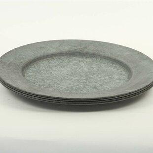 Galvanized Charger Plates Wayfair