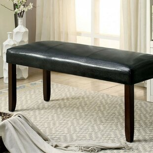 Kinley Leatherette Wood Bench