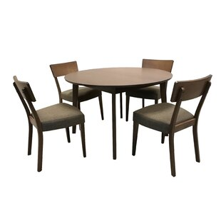Crompton Extendable 5 Piece Breakfast Nook Dining Set