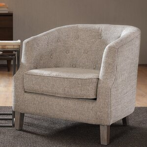 Alcott Hill Catalpa Chesterfield Barrel Chair Image
