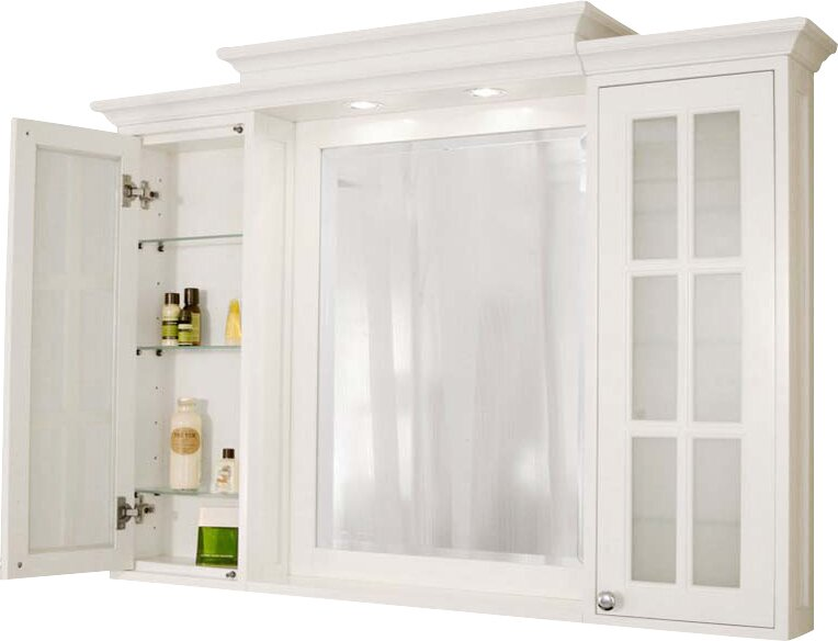 Harper beach monterey 48 x 36 surface mount medicine - Large medicine cabinet mirror bathroom ...