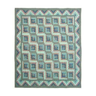 Log Cabin Queen Quilt