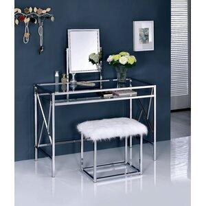 Enid Contemporary Vanity Set with Mirror