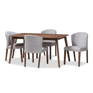 Dingler Mid-Century Wood 5 Piece Dining Set