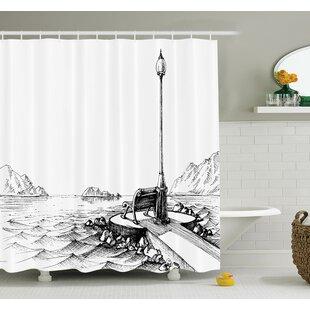 Sun Moon Vintage Shower Curtain Set