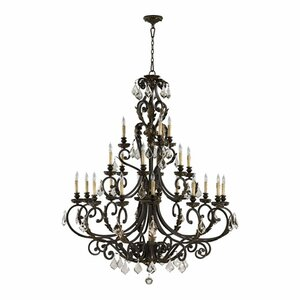 Ancram 21-Light Candle-Style Chandelier