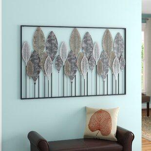 cc30f627bc Metal Leaf Wall Hanging | Wayfair