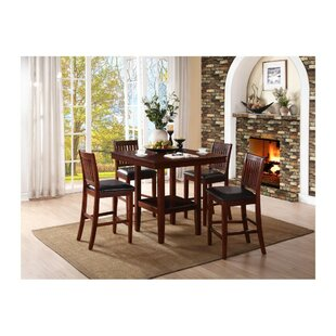 Gerdes Counter Height 5 Piece Solid Wood Pub Table Set
