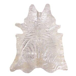 surrey zebra hide silver rug