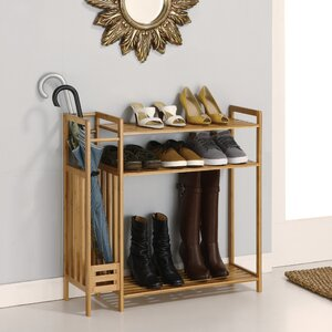 Utility Entryway 3-Tier Shoe Rack