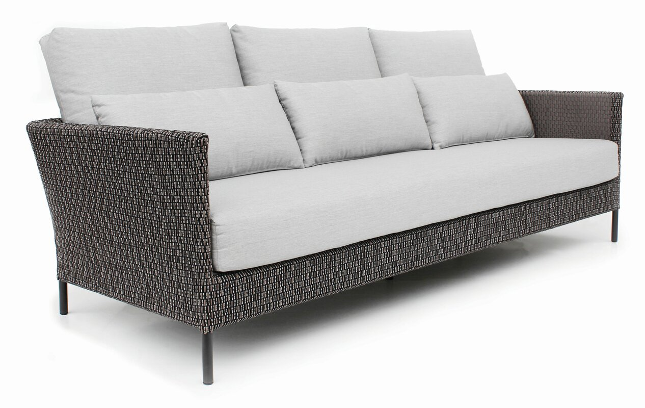 SeasonalLiving Precision Indoor/Outdoor 3 Seater Patio Sofa with ...