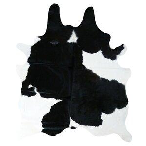 cedarton natural cowhide blackwhite area rug