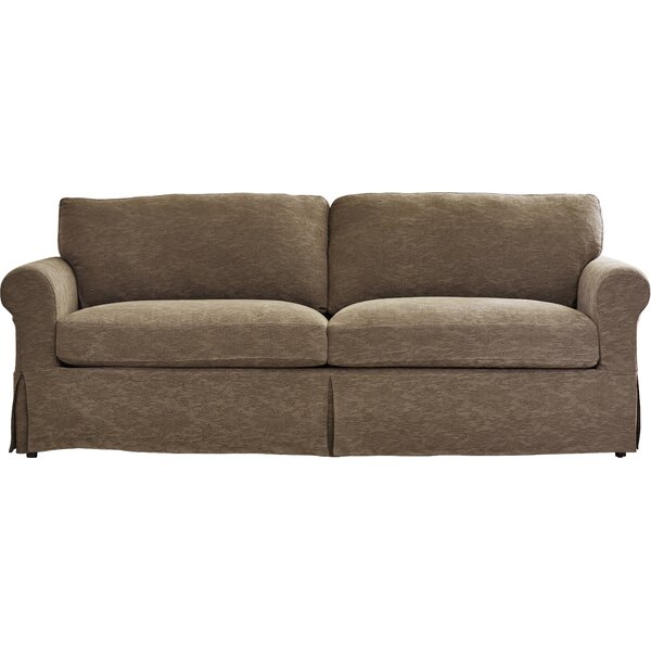 Three Posts Garmon Box Cushion Sofa Slipcover Reviews Wayfair