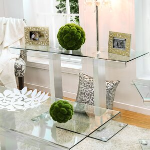 Wall Tables For Living Room glass console & sofa tables you'll love | wayfair