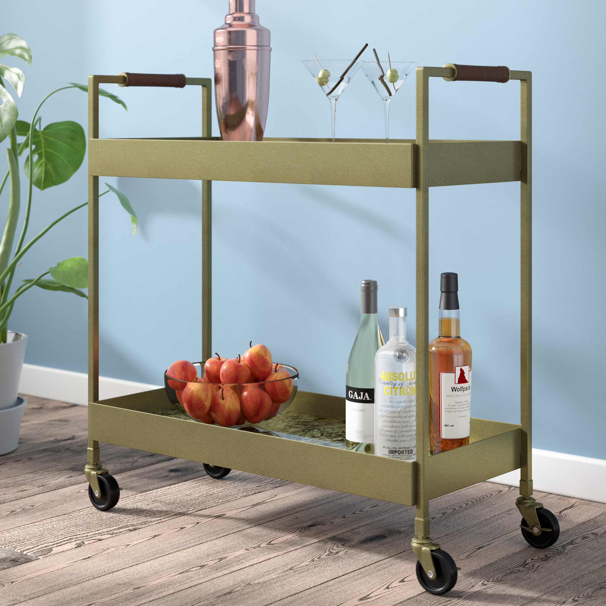 Ivy Bronx Cho Bar Cart & Reviews   Wayfair.ca