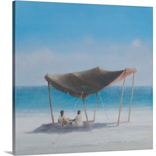 Beach Tent 2012 by Lincoln Seligman Painting Print on Canvas & Popup Beach Tent | Wayfair