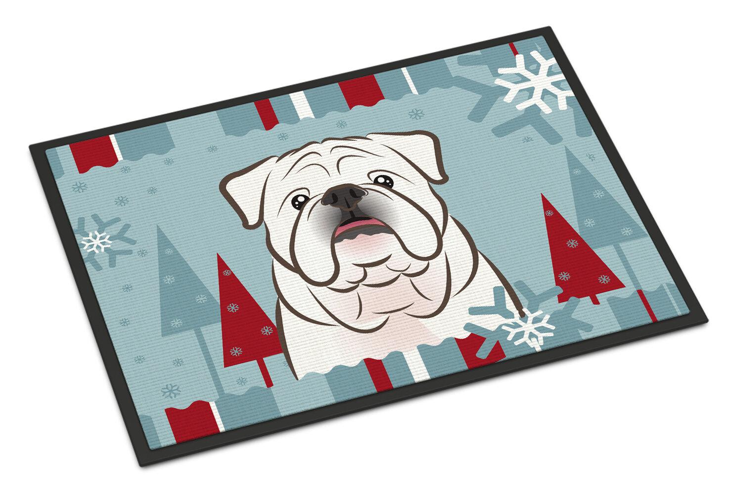 Caroline\'s Treasures Winter Holiday English Bulldog Doormat | Wayfair