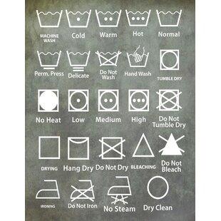 Laundry Symbols By Diana Alcala Painting Print On Wred Canvas
