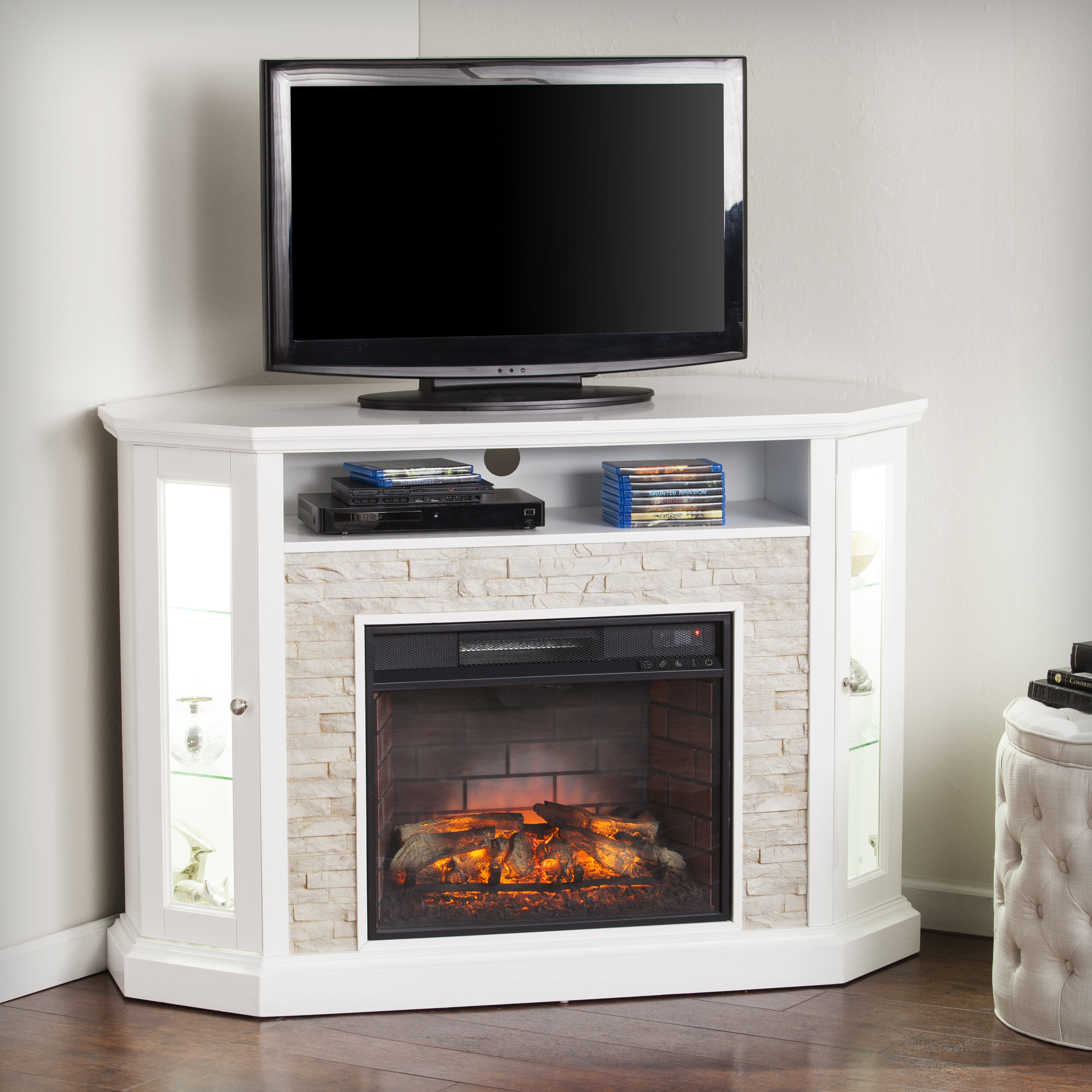 Alcott Hill Montpelier Tv Stand For Tvs Up To 50 With Fireplace