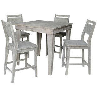 Torkelson Solid Wood Counter Height 5 Piece Pub Table Set
