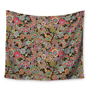 My Butterflies & Flowers by Julia Grifol Wall Tapestry