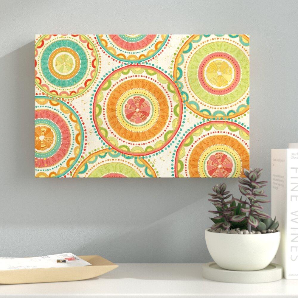 Ebern Designs \'Citrus Splash XIII\' Graphic Art Print on Canvas | Wayfair