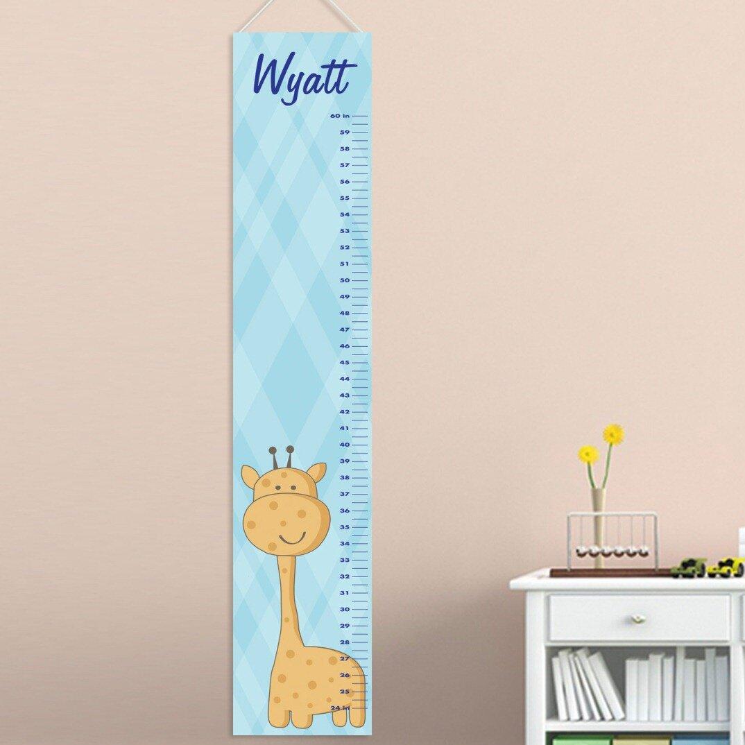 Jds Personalized Gifts Baby Boy Giraffe Growth Chart Wayfair