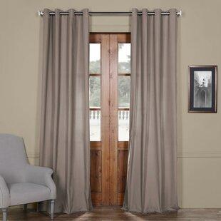 Anacari Solid Grommet Indoor Cotton Curtain Panel