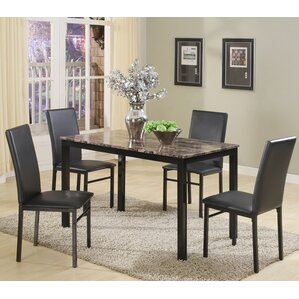 Noyes 5 Piece Dining Set (Set Of 5)