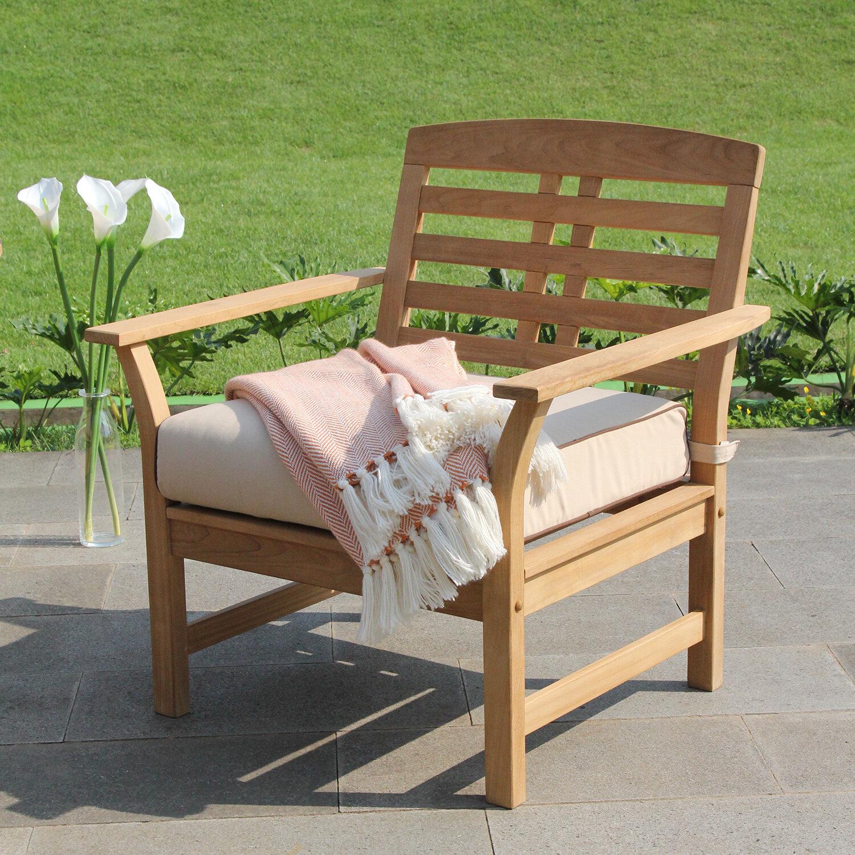 Birch Lane Heritage Calila Teak Patio Chair With Cushions Birch Lane
