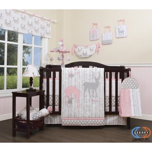 8e8bef6a0afe8 Three Lakes Baby Girl Deer Family Nursery 13 Piece Crib Bedding Set