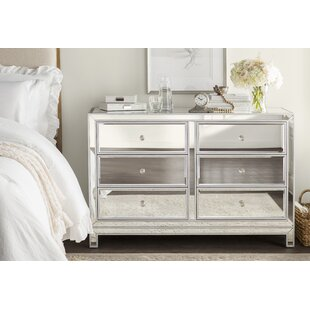 mariaella 6 drawer double dresser - White Bedroom Dresser