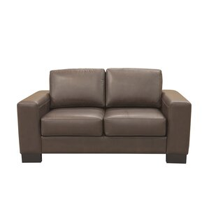 Mayfair Leather Loveseat b..
