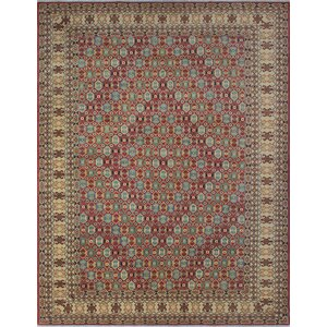 Bruford Kazak Hand Knotted Wool Red Area Rug