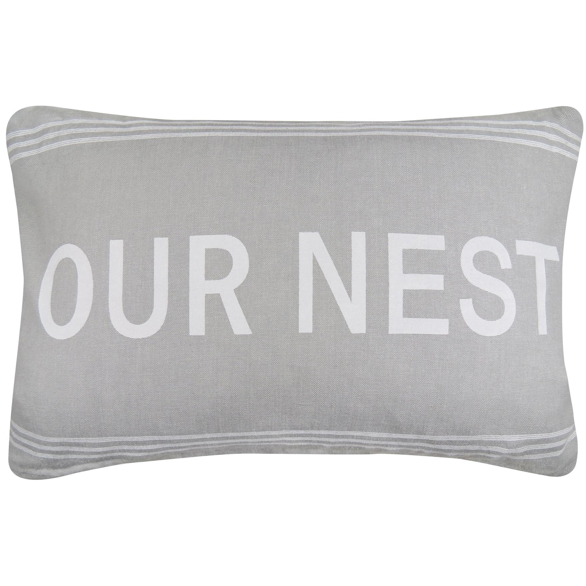 Park B Smith Ltd Vintage House Our Nest Cotton Lumbar