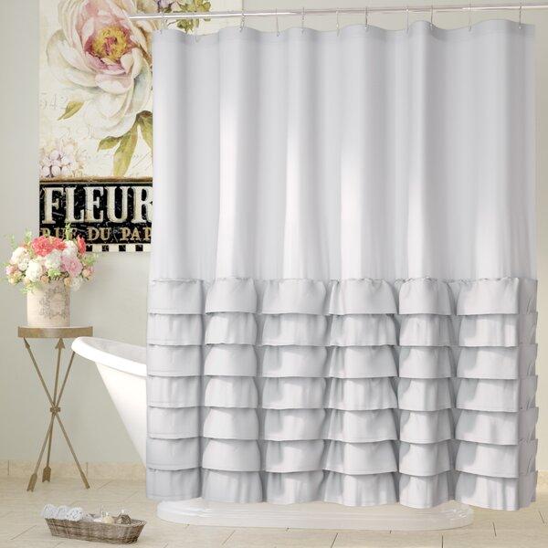 Lark Manor Peeples Ruffle Shower Curtain U0026 Reviews | Wayfair