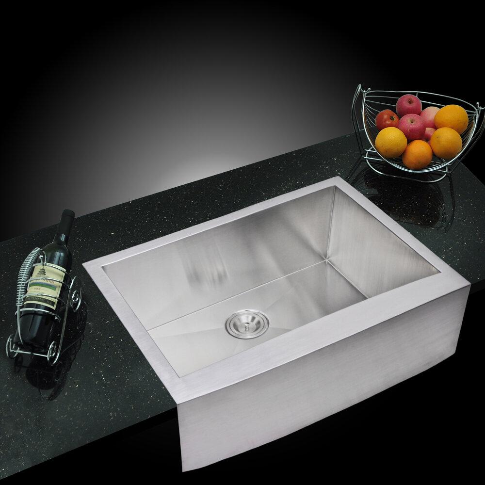 dcor design brier single bowl kitchen sink wayfair rh wayfair com
