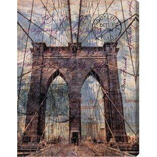 Frameless bridge canvas art wayfair brooklyn bridge graphic art on wrapped canvas malvernweather Choice Image