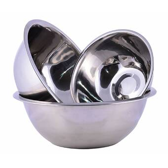 Heuck 4 Piece Stainless Steel Mixing Bowl Set & Reviews