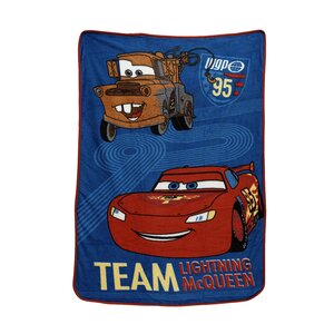 Cars Taking the Race Toddler Coral Fleece Blanket