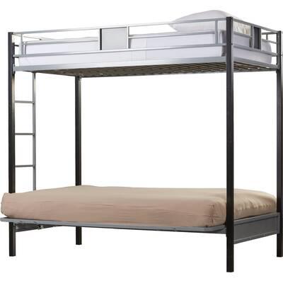 Viv Rae Elya Twin Futon Bunk Bed Reviews Wayfair
